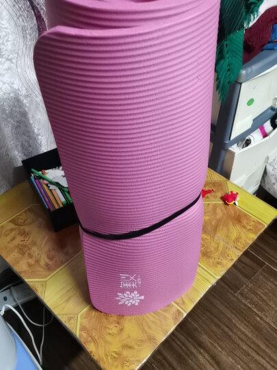 奥义瑜伽垫 家用隔音跳绳垫高密度丁腈橡胶加厚加长男女健身垫 防滑运动垫子 玫红(含绑带网包) 晒单图