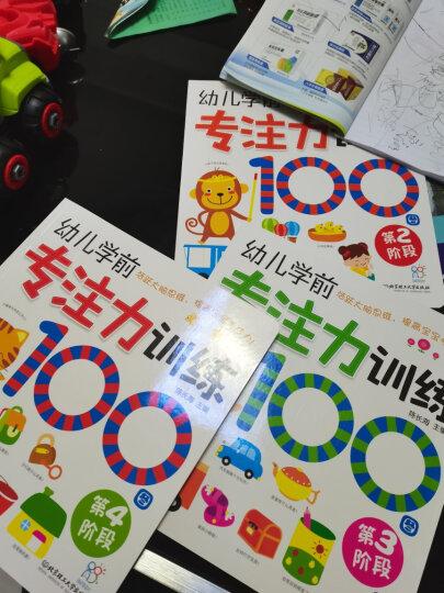 幼儿学前专注力训练100图:第1阶-第4阶(套装共4册)循序渐进 亲子游戏 手眼脑多感官开发 晒单图