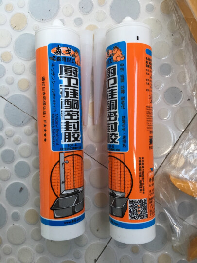 森戈厨卫硅酮胶2支装玻璃胶密封胶(透明色)300ml中性胶日本夏普化工卫生间厨房厨卫水池马桶洗手盆防霉防水 晒单图