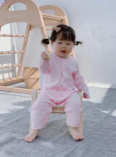 优奇婴儿衣服春秋长袖连体衣新生幼儿睡衣秋季宝宝纱布内衣夏装空调服 春秋【闭档】米白 80cm(推荐身高76cm--82cm) 晒单图