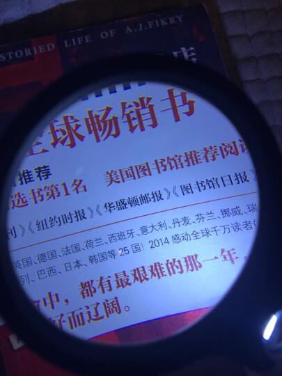 PaulOne 10倍20倍光学玻璃高清手持放大镜 LED 3灯夜视老人阅读 6902AB黑白色 晒单图