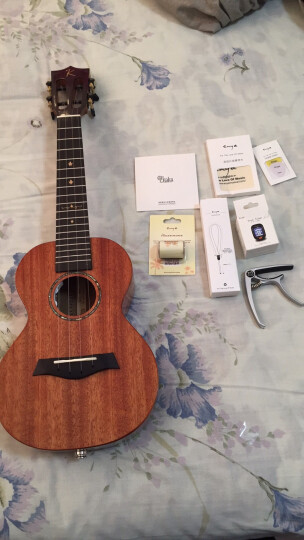 KAKA卡卡 KUC-MAD电箱款  尤克里里乌克丽丽ukulele桃花心木全单板23寸小吉他 晒单图