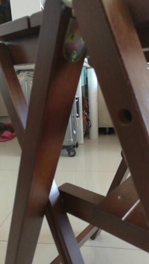诺顿伯格全实木折叠梯凳高板凳登高梯现代简约北欧家用创意两用梯椅木梯子阶梯凳橱房凳美式多功能楼梯凳 蜜糖色 晒单图
