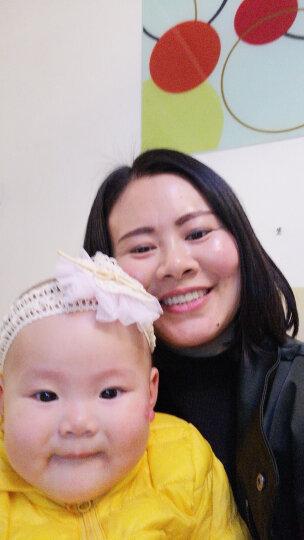 韩版女宝宝蕾丝发带 假发发饰 婴儿童可爱发箍 韩国白天拍照头饰 大纱花发饰粉色 晒单图