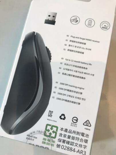 雷柏(Rapoo) M218 无线鼠标 办公鼠标 笔记本鼠标 白色 晒单图