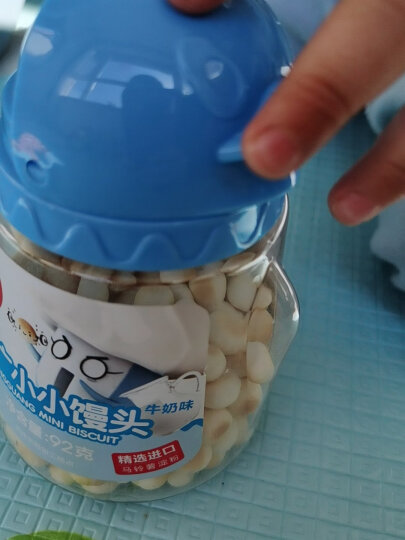 方广 儿童营养零食 奶豆 小小馒头 草莓味 溶豆 宝宝饼干 92g/瓶 晒单图