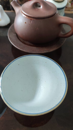 九土手绘青花小茶杯仿明代复古斗笠杯主人功夫茶艺日式茶道品茗杯 青花盖碗 晒单图