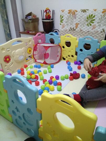 澳乐(AOLE-HW)儿童婴儿游戏围栏爬行垫围挡安全护栏宝宝学步围栏栅栏海洋球池 跑跑熊围栏14片+门栏+玩具栏【京东闪电发货】 晒单图