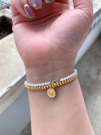 海蒂珠宝 袖珍小珍珠淡水珍珠手链 18K金扣  纤语 送女友 送老婆款 5-5.5mm19cm圆珠18K金扣 晒单图