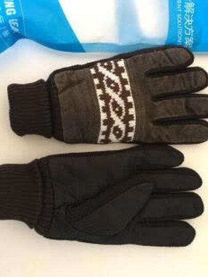 博沃尼克 冬季保暖手套加绒加厚学生户外骑行骑车手套 男士防寒防风手套 均码  黑色 晒单图