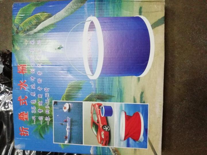 雪尼尔擦车手套 车载水桶车用水桶钓鱼水桶   洗车工具洗车配件洗车用品 折叠水桶+大毛巾1条60*160 +海绵1个 晒单图