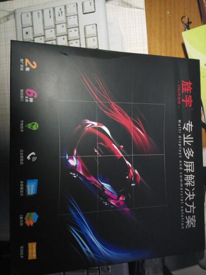 旌宇 多屏显卡 六连屏 miniDP接口 炒股办公监控可转多种显示接口混合使用 RX580 G6DP 8G 新旗舰 赠线主动式DVI 输出 晒单图