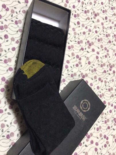 宜帛棉品 袜子男士竹纤维袜子中筒男袜吸汗秋冬季款商务不臭脚男袜礼盒装5双 五双全黑色 晒单图