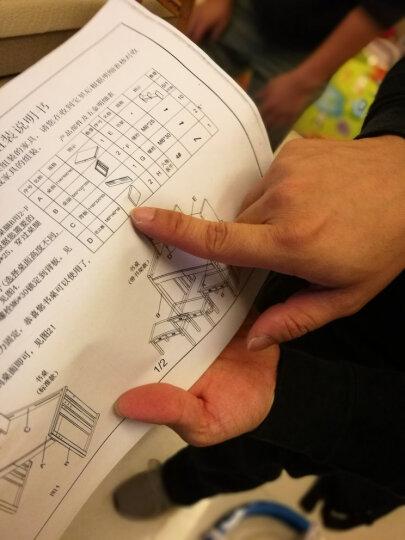华谊(HUAYI)书桌 实木书架组合 可调节学习桌 升降学习桌(不带书架) 仿古色(单张书桌不含书椅) 晒单图