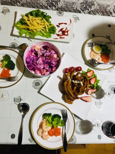 同光陶瓷餐具长方盘子创意长条盘子韩式烤肉盘 寿司盘长方点心盘 14寸英俊线条长方盘 晒单图