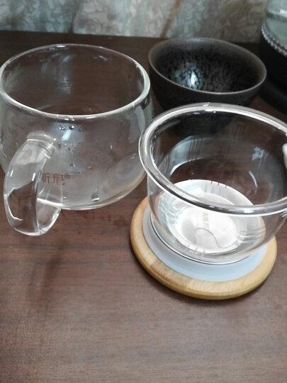 美斯尼 茶杯玻璃茶水分离杯子茶具竹盖带把手过滤网不锈钢内盖加厚耐高温加热男女士玻璃大号马克杯三件套装 300毫升 晒单图
