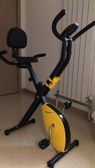 天鑫 动感单车家用静音健身自行车室内脚踏健身器材运动健身车男女 黄色【多功能磁控车】 晒单图