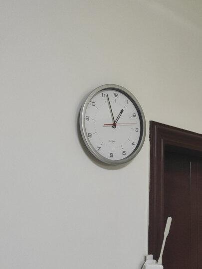 丽声(RHYTHM) 静音客厅创意美式田园挂钟简约现代大气钟表时尚卧室家用圆形挂表石英机芯欧式时钟 32cm树脂液晶 CFG706NR19 晒单图