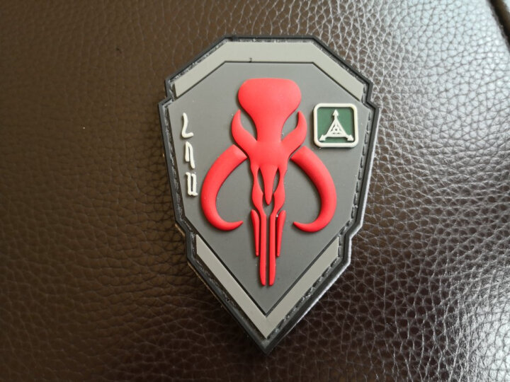 VIPERADE 蝰蛇  军迷魔术贴章 户外PVC背包个性魔术贴 服饰衣服臂章 赏金猎人-红色 晒单图