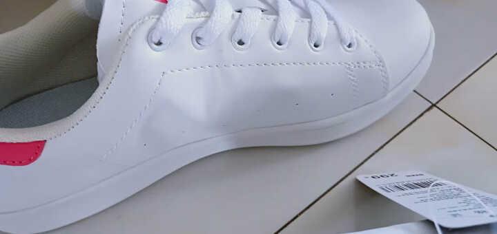 美特斯邦威集团旗下 4M  -潮流品牌 板鞋男情侣款韩版潮运动休闲青春潮流舒适小白鞋 白红组 40 晒单图