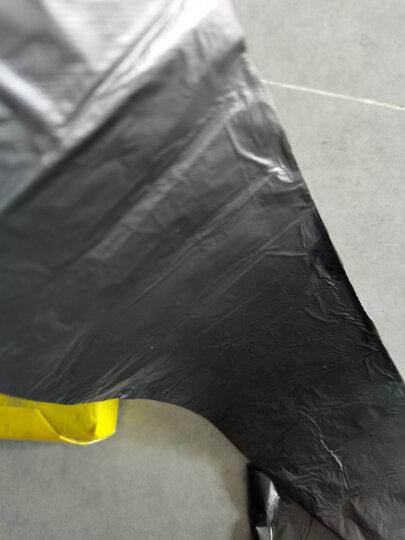利得 背心式手提家用办公垃圾袋100只 50cm*60cm黑色加厚中大号垃圾桶袋 垃圾分类 晒单图