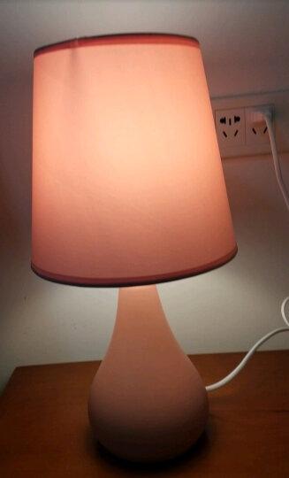 盏爱马卡龙粉色台灯卧室床头灯创意简约现代陶瓷灯具 北欧式温馨公主暖光小夜灯 马卡龙小号灰色+2.5LED灯泡 晒单图