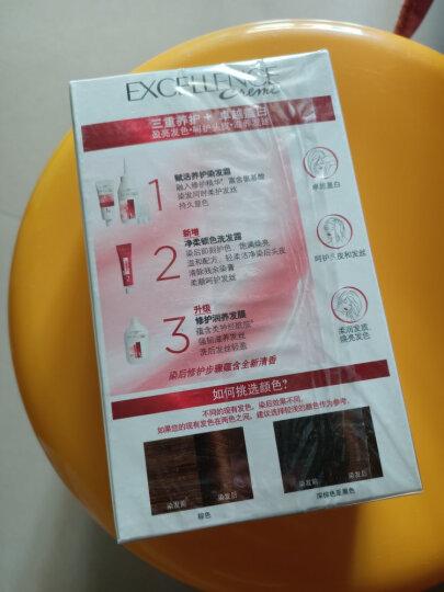 欧莱雅(LOREAL)卓韵霜护发染发霜#4.45(红铜棕色染发霜)(深棕色系 不伤发染发膏 染发剂 遮白盖白) 晒单图