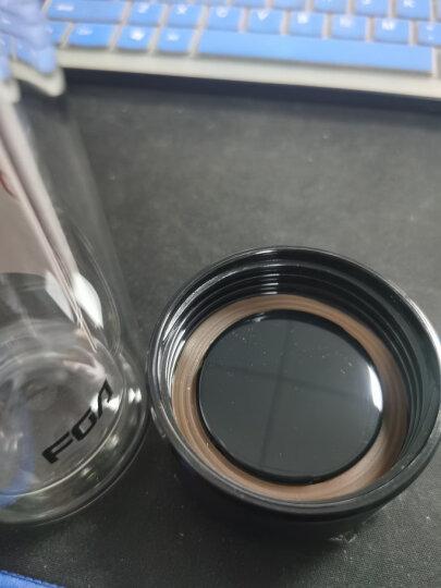 富光 男女士双层玻璃杯 经典简约304不锈钢茶隔水杯子 便携创意泡茶杯320ML红色(WFB1013-320) 晒单图