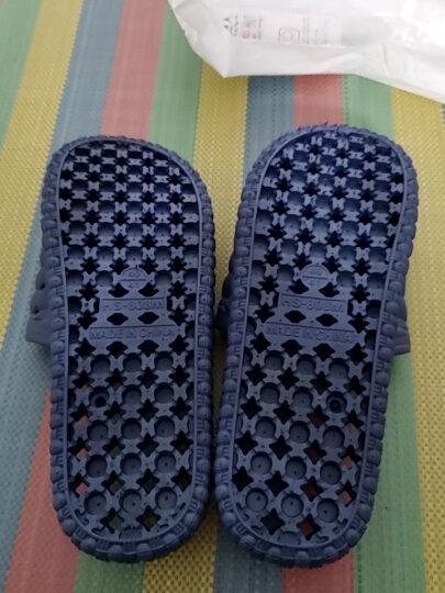 南极人凉拖鞋男女居家情侣洗澡漏水浴室拖鞋 18001 天蓝色38-39码 晒单图