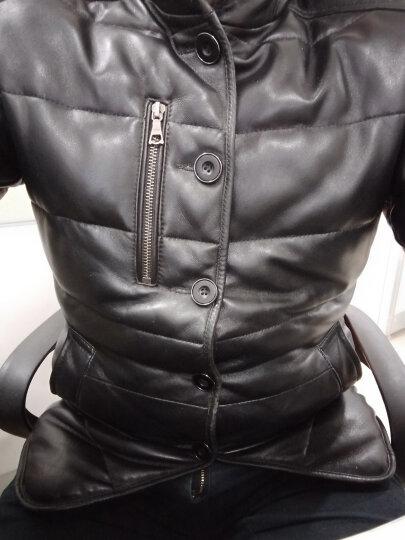 杜森·克莱恩(DK) 海宁 真皮羽绒服男士 真皮皮衣男水貂领中长款绵羊皮皮衣 冬季保暖外套 黑色 L 晒单图