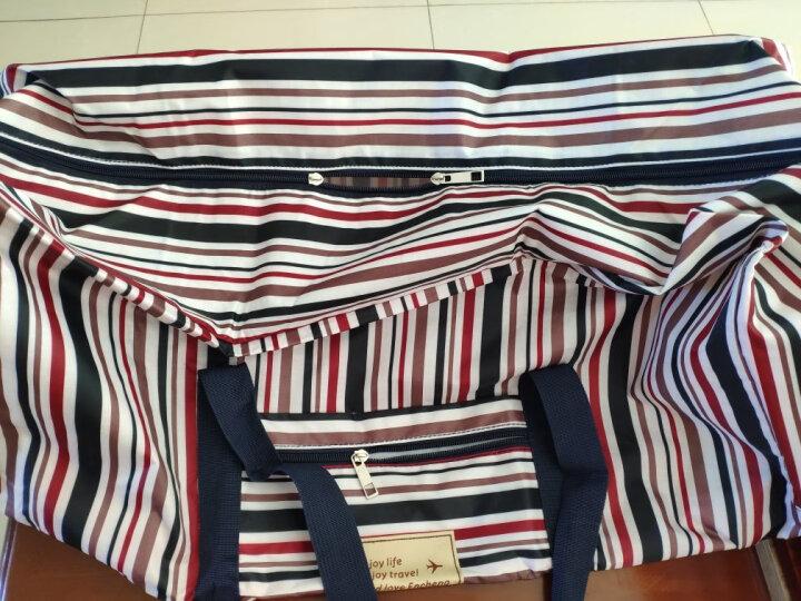 恩诚牛津布大容量防水旅行出差收纳袋单肩包可挂拉杆箱上环保购物袋 酒红点 (大号)长43*宽18.5*高33CM 晒单图