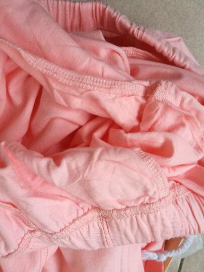 斯服玛sifuma 睡衣女夏季新品纯棉短袖套装可爱卡通翻领开衫女士睡衣家居服可外穿秋夏 W004豆沙粉 XL 晒单图
