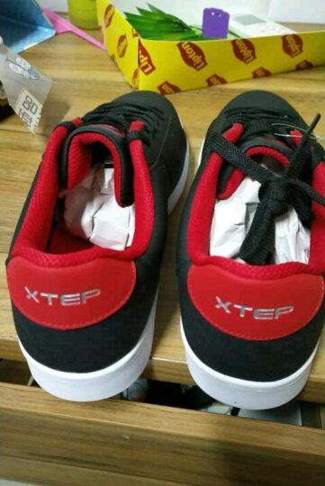 特步(XTEP)板鞋 男运动休闲鞋低帮滑板鞋时尚韩版潮鞋 9503 灰 41 晒单图