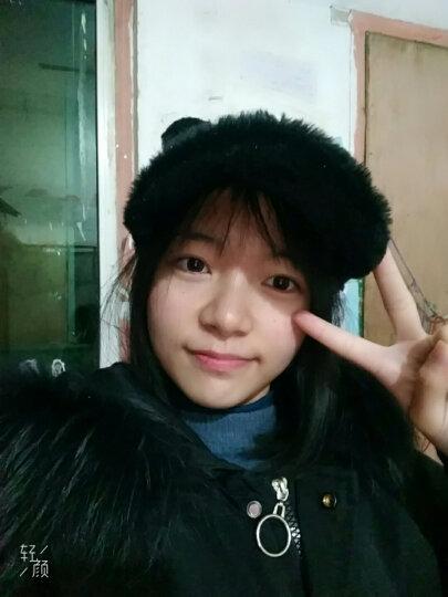 熊猫帽子女亲子帽冬天保暖毛绒帽女士棒球帽韩版可爱儿童鸭舌帽男宝宝帽 黑色 成人款(56-60CM) 晒单图