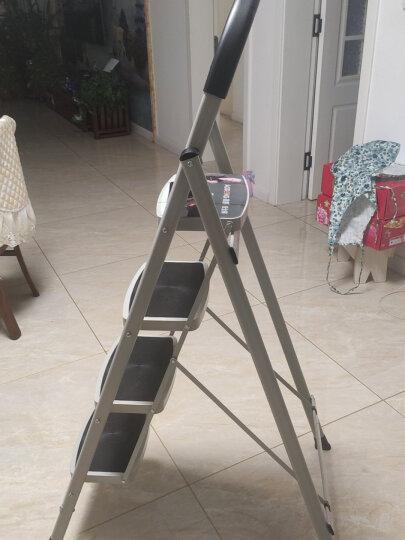 奥鹏家用梯子四步折叠梯子加厚钢管铁梯宽踏板人字梯单侧工程梯 AP1264 晒单图