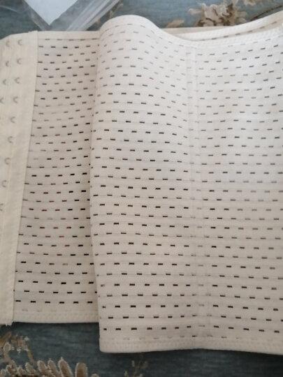 爱贝婷 塑身衣收腹带束腰带产后束缚带薄款三排扣透气塑腰减肥男女腰封 黑色 L(85-105斤) 晒单图
