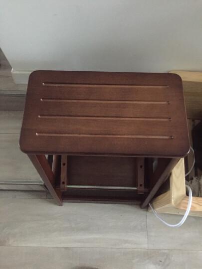 诺顿伯格全实木楼梯凳折叠梯凳阶梯凳家用木梯两用梯子折叠梯创意现代简约两步实木梯多功能梯椅橱房凳 晒单图