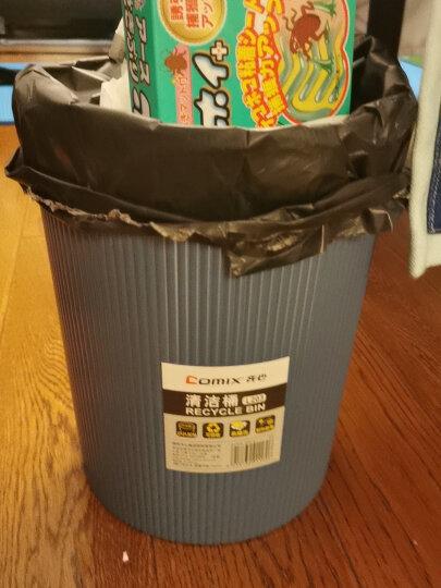 齐心(COMIX)直径22cm易擦洗圆形清洁桶/纸篓/垃圾桶蓝色 办公文具L203 晒单图