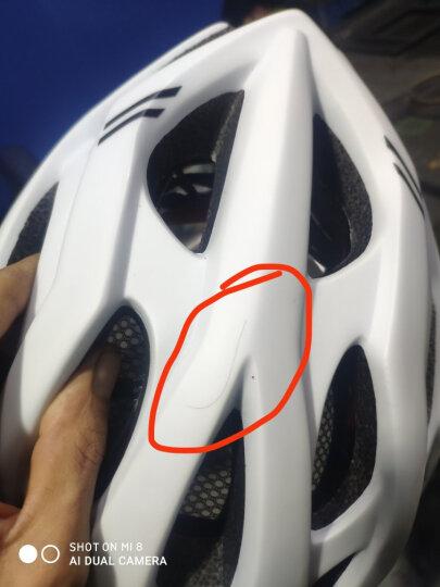 骑行头盔一体成型男女山地公路自行车头盔骑行装备安全帽 蓝黑 晒单图