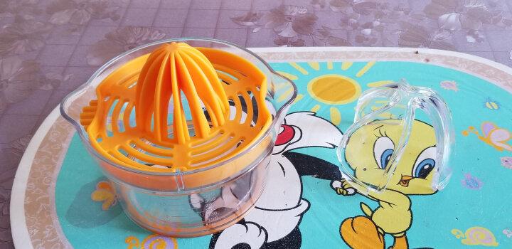 光合生活 手动榨汁机榨汁器 柠檬橙子幼儿迷你榨汁机家用压汁机厨房DIY小工具 橙色 晒单图