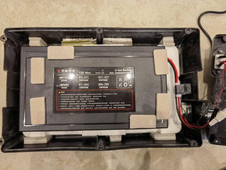 天能48V锂电池电动车电瓶48v12ah代驾外卖踏板电动自行车锂电池替换铅酸蓄电动车电瓶48v 晒单图