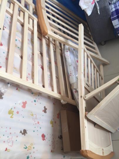 好孩子(gb)婴儿床新生儿实木无漆环保多功能宝宝床拼接床特有尿布台 标配+椰棕床垫+5件套粉色 晒单图