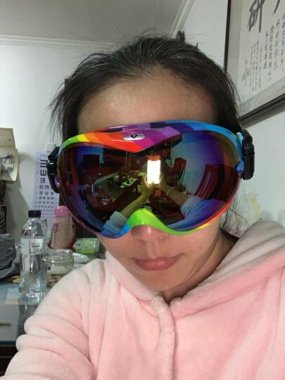 VOLOCOVER 艾仑凯沃专业滑雪眼镜 双层镜片防雾防紫外线男女防护目镜大球面可卡近视眼镜滑雪镜 桔纹框红彩片 晒单图