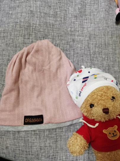 妈妈果 婴儿帽子春秋季纯棉新生儿宝宝儿童男童女童胎帽0-3个月 单件(赠品勿拍)颜色随机 0-3个月 晒单图