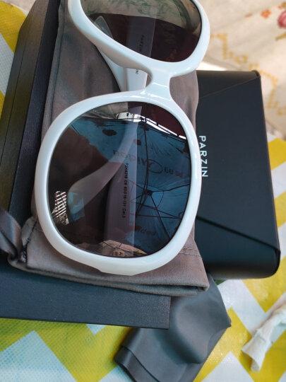 帕森(PARZIN)太阳镜女款墨镜 复古大框时尚偏光太阳眼镜6216 白色 晒单图