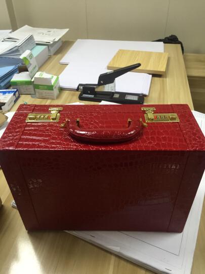 阿里奴结婚箱子红色婚庆箱包木制皮箱官箱新娘复古小号密码箱手提结婚旅行箱行李箱礼金箱嫁妆箱包 15寸 晒单图