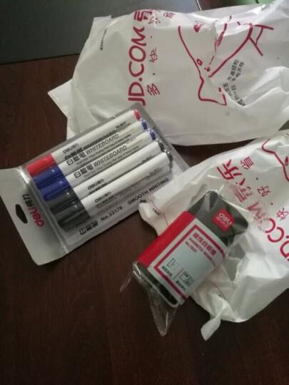 得力(deli)办公会议白板笔可擦易擦10支 7黑2蓝1红 晒单图