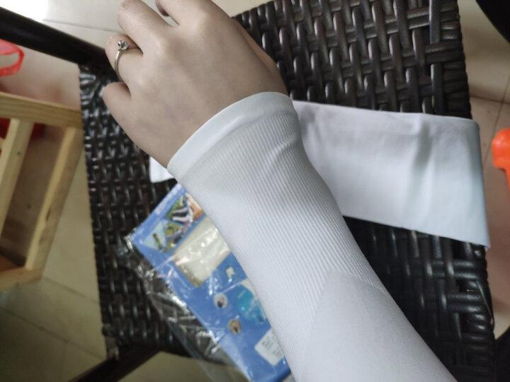 北诺冰丝防晒袖套男女夏天长款薄透气套袖户外开车骑车骑行防紫外线出口韩国夏季防晒手套男 紫色 套指款 晒单图