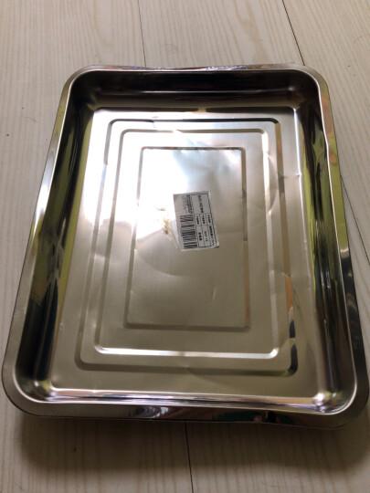 拜杰(Baijie)不锈钢托盘 烧烤托盘 烤鱼盘烧烤盘 餐盘  蒸饭盘 菜盘 水果盘  30*40*4.8 晒单图