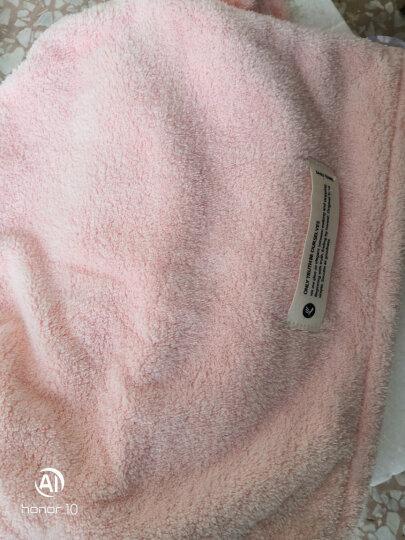 三利 干发帽 柔软强吸水速干擦头发毛巾 便携式可爱洗发包头巾浴帽 桃红色 晒单图